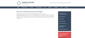 A História da Maçonaria pela Loja Quatuor Coronati. Com o apoio do Secretário para Portugal