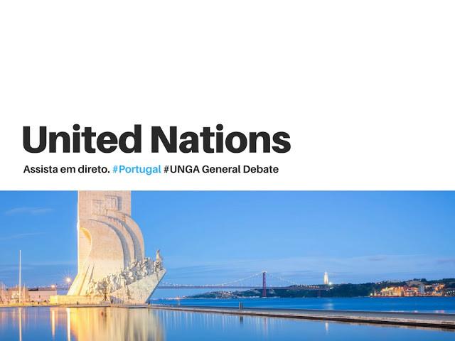Ao vivo: Assista em directo à intervenção do Primeiro Ministro de Portugal nas Nações Unidas