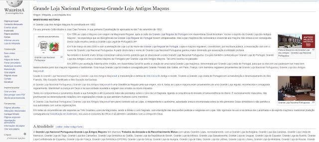 Grande Loja Nacional Portuguesa na Wikipedia