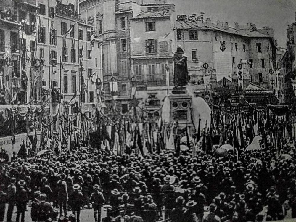 Nel nome di Giordano Bruno, arso sul rogo per le sue idee il 17 febbraio 1600