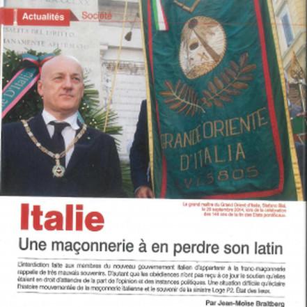 Massofobia e il caso italiano. Intervista al Gran Maestro sul magazine francese «Franc Maçonnerie»