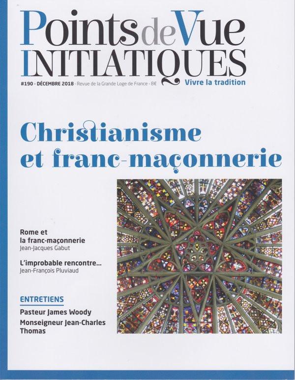 Capa da Revista «Points de Vue Initiatiques«, da Grande Loja de França | Christianisme et franc-maçonnerie