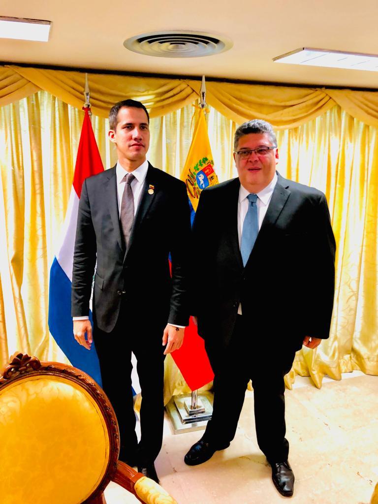 Masoneria del Paraguay recibe Guaidó  || Fotografia