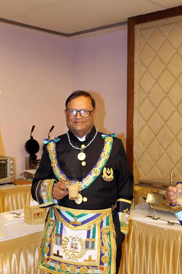 I would like everyone to please say a prayer for R.W. Brother Satish John from India