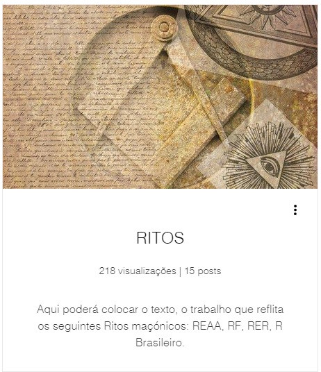 Aqui poderá colocar o texto, o trabalho que reflita os seguintes Ritos maçónicos: REAA, RF, RER, R Brasileiro