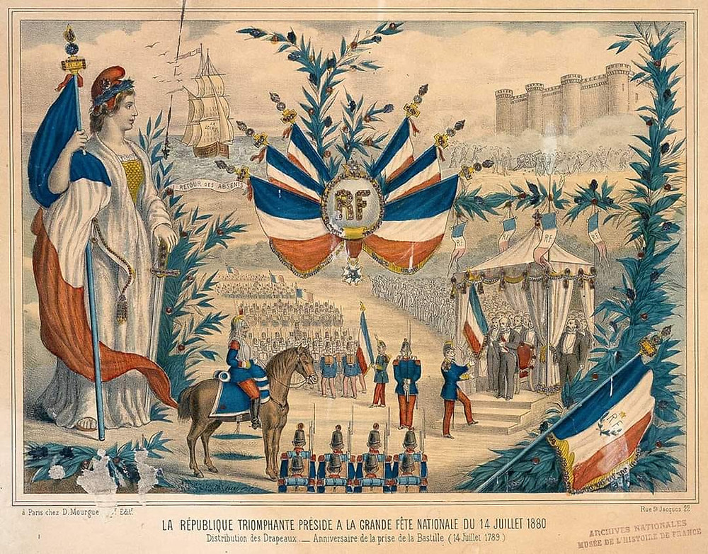 LA RÉPUBLIQUE TRIOMPHANTE PRÉSIDE À LA GRANDE FÊTE NATIONALE DU 14 JUILLET 1880. ANALYSE DES IMAGES