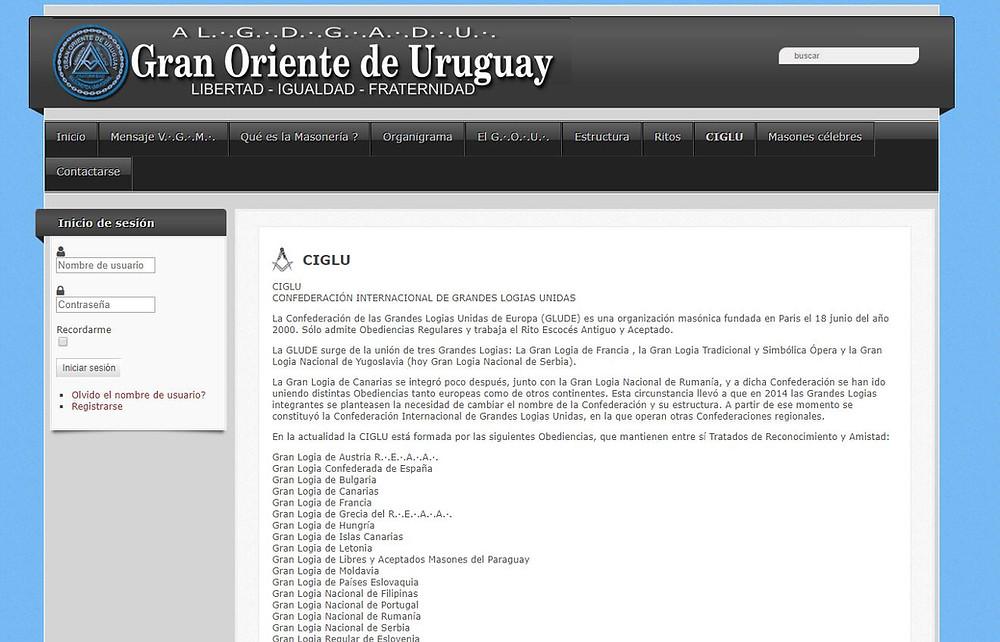CIGLU - CONFEDERACIÓN INTERNACIONAL DE GRANDES LOGIAS UNIDAS | GRAN ORIENTE DE URUGUAY