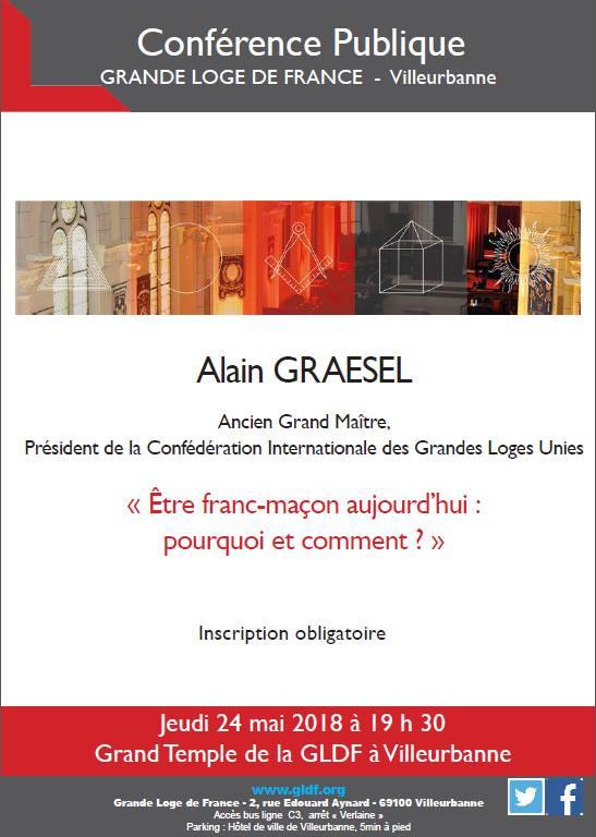 Alain GRAESEL | Conférence Publique | 24.05.2018 | 19H30