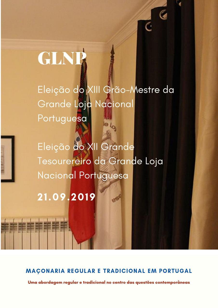 Dia 21.09.2018 haverá eleições na Grande Loja Nacional Portuguesa