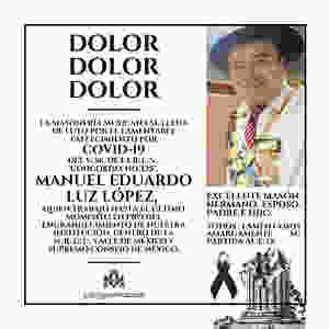 Manuel Eduardo Luz López | O .'. E .'. | Supremo Consejo de México | Dolor, Dolor, Dolor