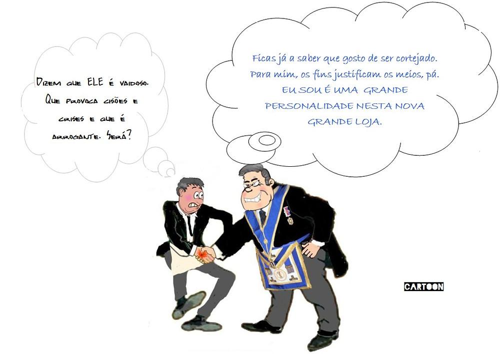 Cartoon: PERSONALIDADES RARAS NA MAÇONARIA