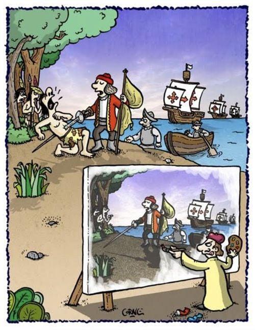 Cartoon : - Nada para celebrar - DIA DE ESPANHA