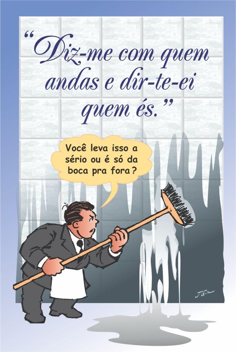 Cartoon: - Lições do quanto a falta de  princípios, a ignorância e o oportunismo...