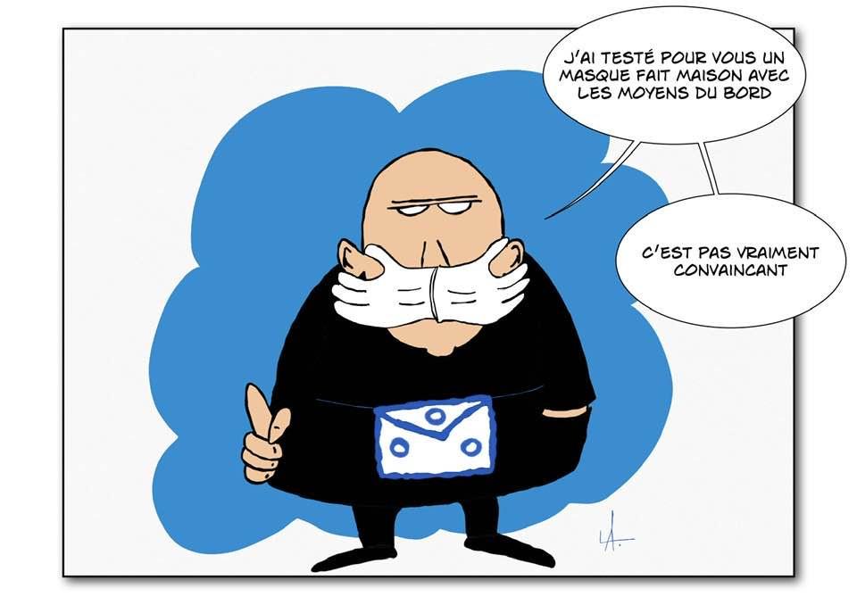 Cartoon: - Cést pas vraiment convaincant