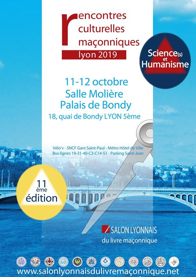 Rencontres culturelles maçonniques | Lyon 2019 | 11-12 OCTOBRE