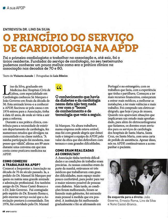 Dr. Lino da Silva numa entrevista encantadora| Revista da APDP -Associação Protectora dos Diabéticos