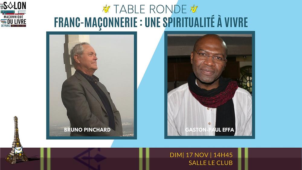 17e Salon Maçonnique Du Livre De Paris | Bruno PINCHARD | Gaston-Paul EFFA