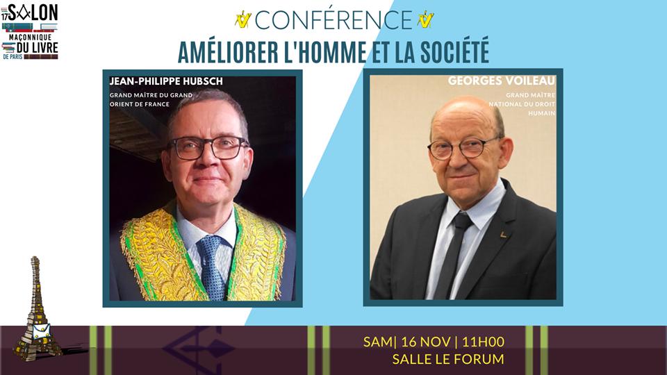 Conférence qui ouvrira le 17e Salon Maçonnique Du Livre De Paris   GODF DH   16.11.2019