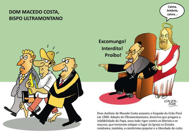 Cartoon - Maçonaria - Excomungo| Interdito ! Proíbo!