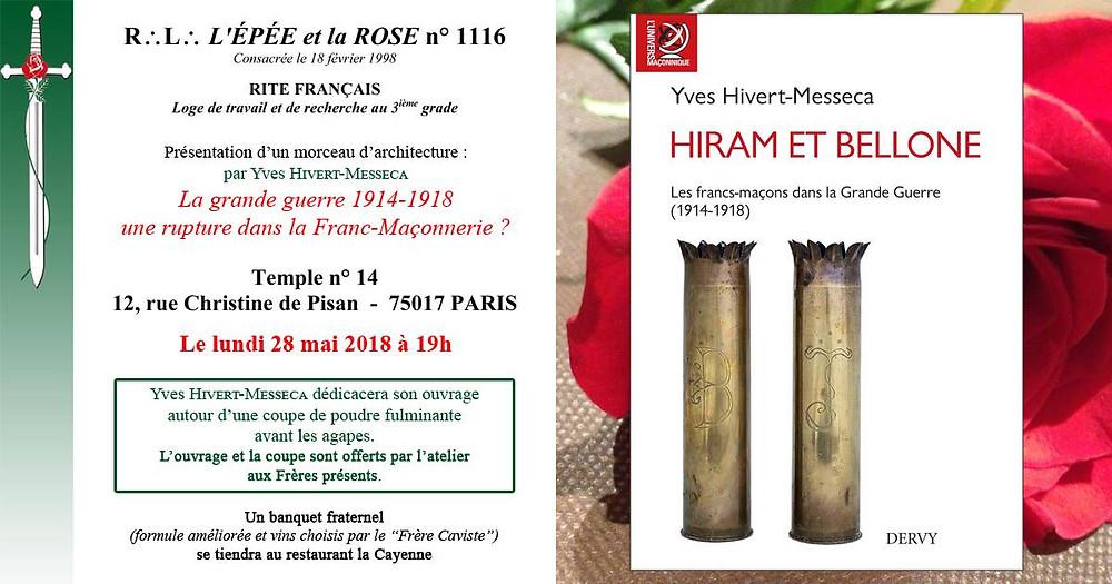 R.'. L.'. «L'Épée et la Rose» n°1116, la Loge de travail et de recherche au 3ème grade du Rite Français