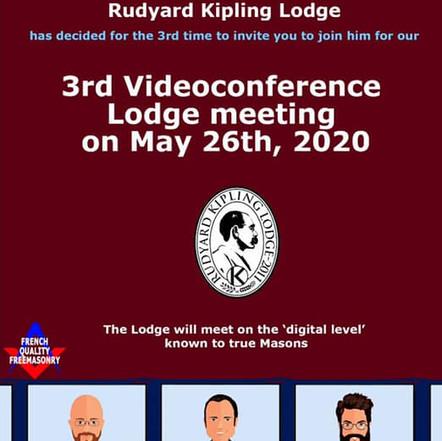 3rd Videoconference Lodge meeting on May 26th, 2020 | Rudyard Kipling Lodge