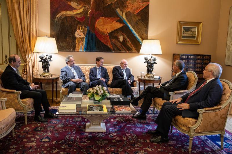 Presidente da República recebe em audiência o Grande Oriente Lusitano