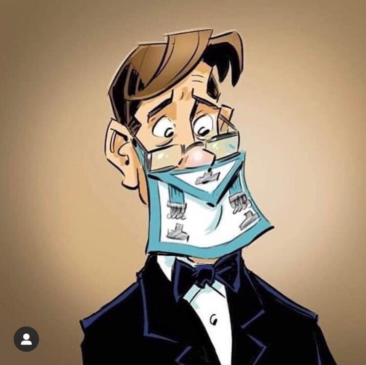 Cartoon - Uma nova prática regular para ser usada em quarentena.