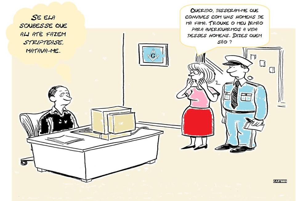 Cartoon: - Homens de má fama