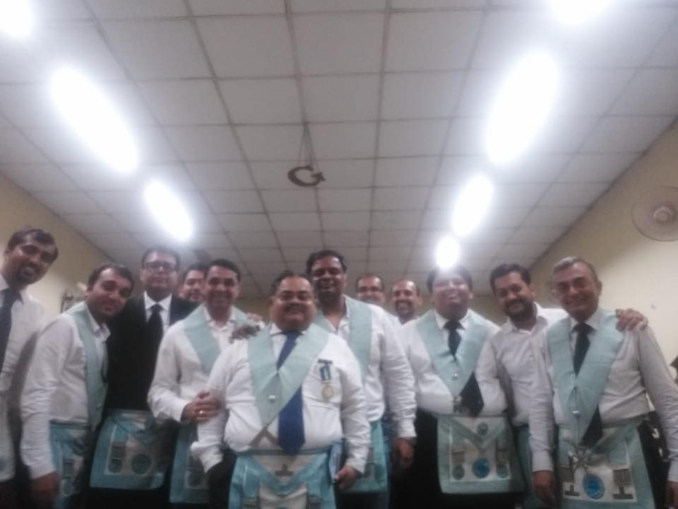 The Brothers of Mount Everest and Lebong Lodge no 52 GLI with the Worshipful Master