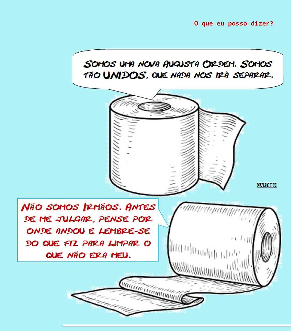 Cartoon: - O que eu posso dizer?