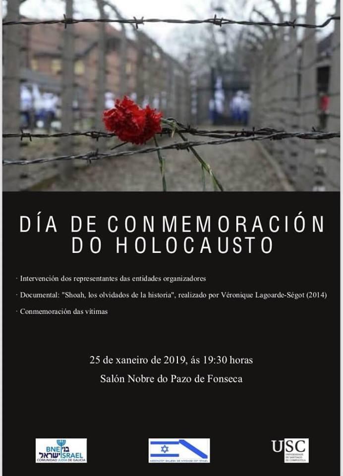 DÍA DE CONMEMORACIÓN DO HOLOCAUSTO | 25.01.2019 | 19H30 |