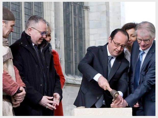 Um novo filme do GODF com a visita ao Museu da Maçonaria do Presidente François Hollande