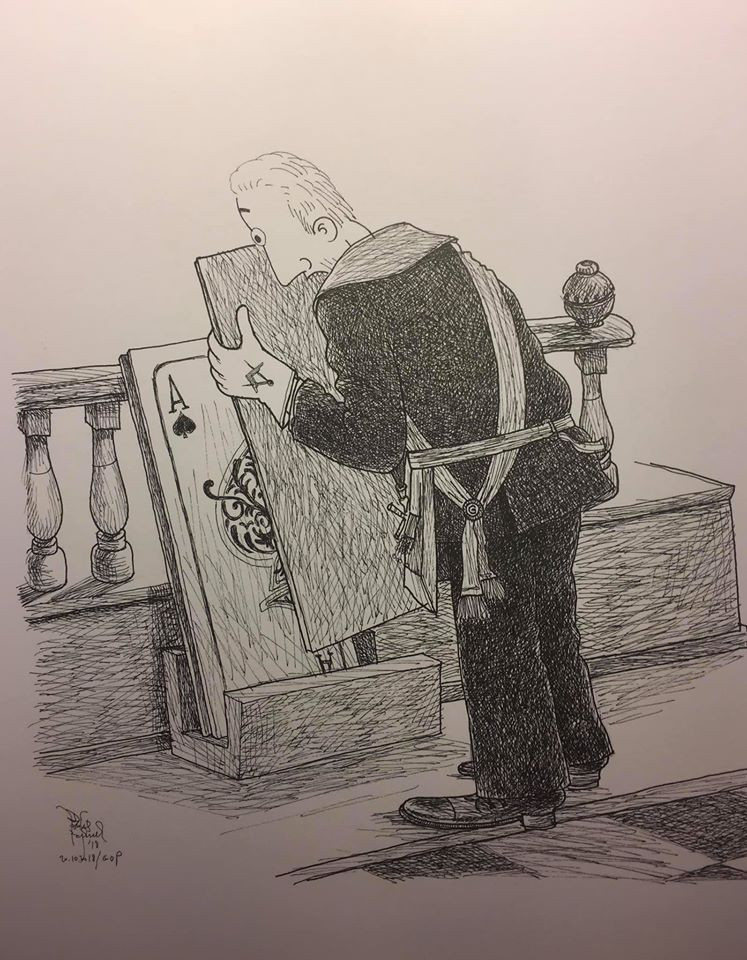 Cartoon - Freemasonry - You get nothing for a pair....