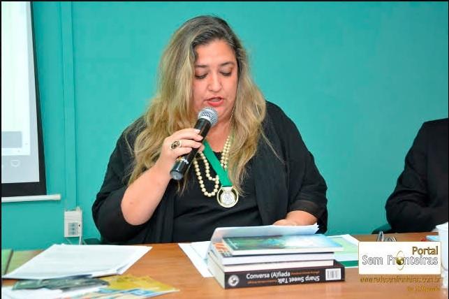 ABRAMES empossa Dyandreia Portugal como Acadêmica Honorária  Academia Brasileira de Médicos Escritores