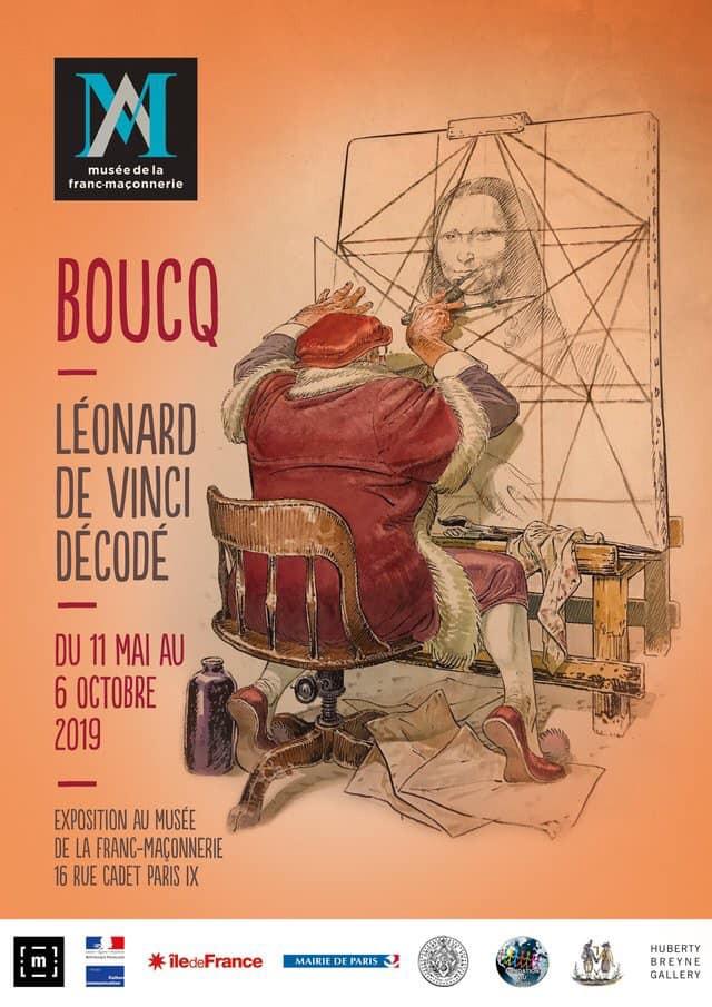O Museu da Maçonaria com uma exposição temática da BD. Mas com um tema específico: Leonardo da Vinci descodificado por François Boucq