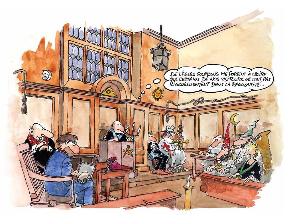 Cartoon - Franc-Maçonnerie