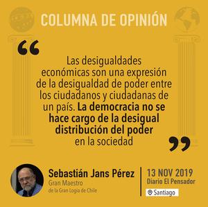 Columna de opinión de Sebastián Jans Pérez, Gran Maestro de la Gran Logia de Chile