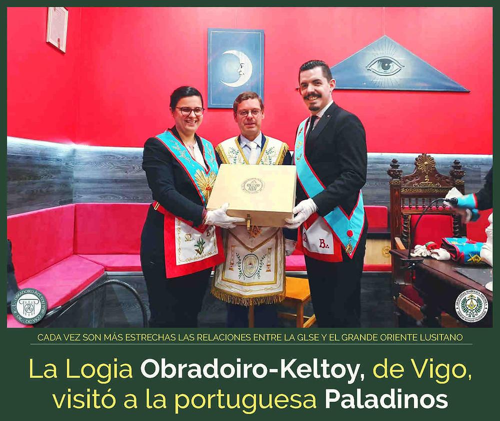 OBRADOIRO-KELTOY VISITÓ A LA LOGIA PALADINOS EN VILA REAL | GOL y GLSE