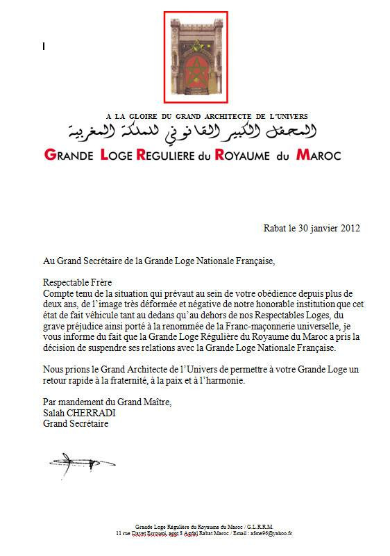 MY FRATERNITY | Grande Loja Regular do Reino de Marrocos