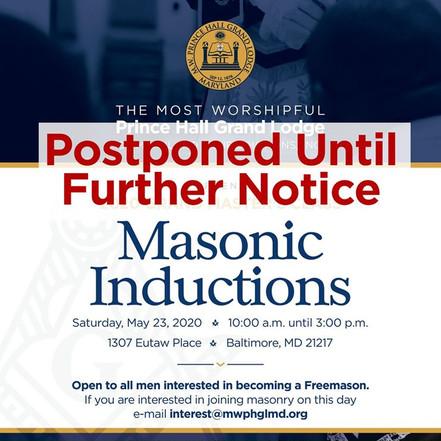 Masonic Inductions | Most Worshipful Prince Hall Grand Lodge of Maryland | May 23, 2020