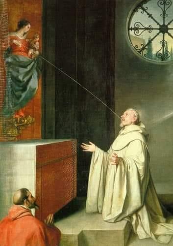 """Catolicismo - El curioso significado de la """"lactación de San Bernardo"""""""