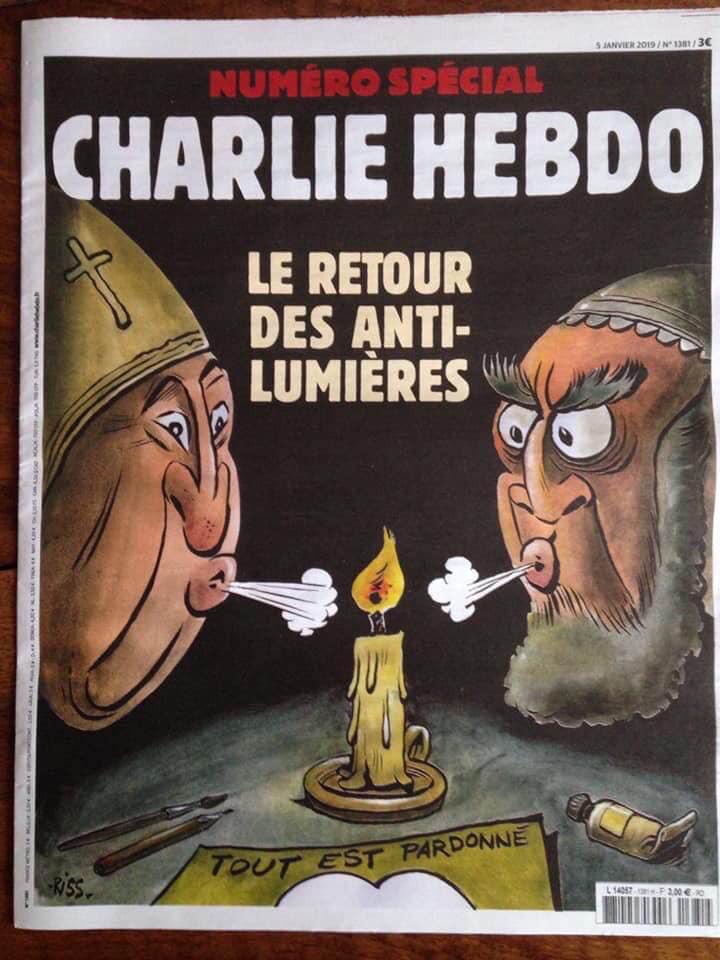 Cartoon: - Je suis Charlie | «Le Retour des Anti-Lumières»