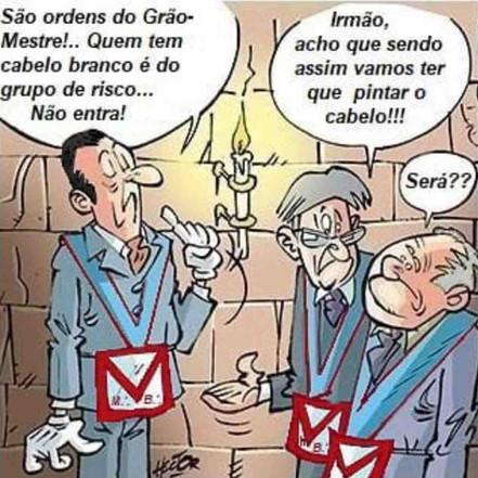 Cartoon: - #COVID19   Maçonaria