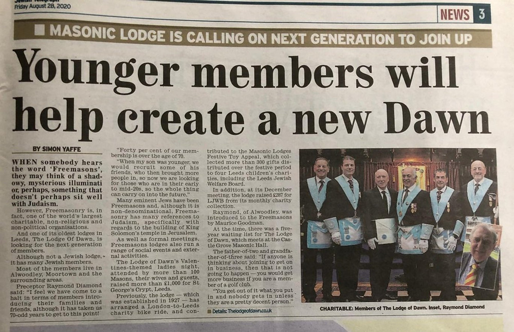Freemasonry - Masonic Lodge is Calling on next Generation to Join Up   UGLE