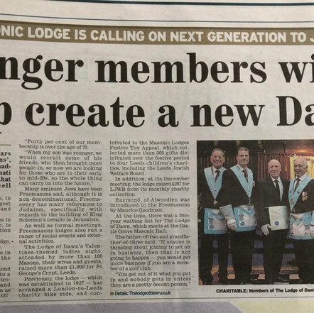 Masonic Lodge is Calling on next Generation to Join Up | UGLE
