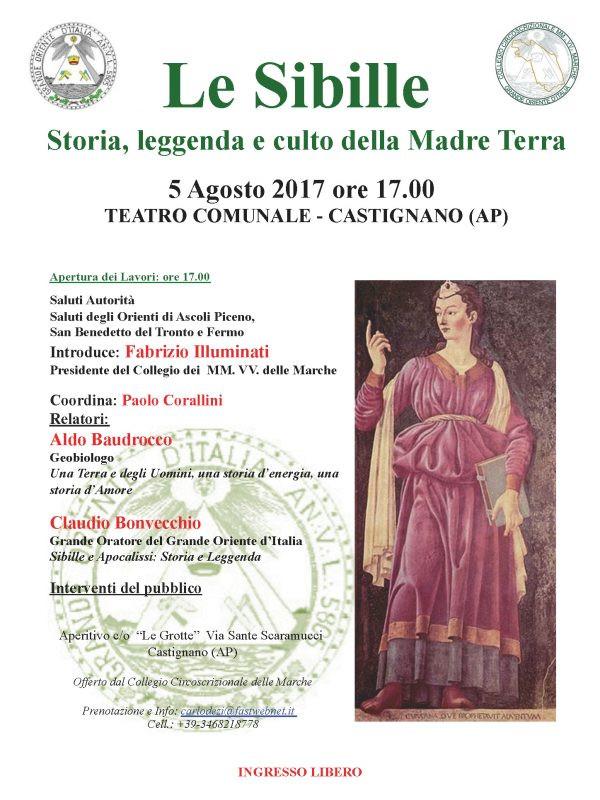 """Le Sibille"". ""História, lenda e culto da Mãe Terra"", conferência do G.'. O.'. Itália"