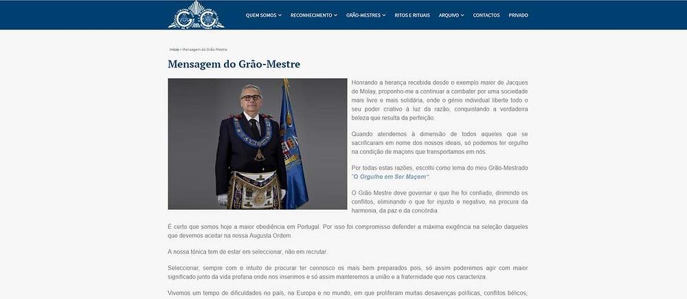 Maçonaria - Grão-Mestre da Grande Loja Legal de Portugal escreve artigo no Jornal Expresso