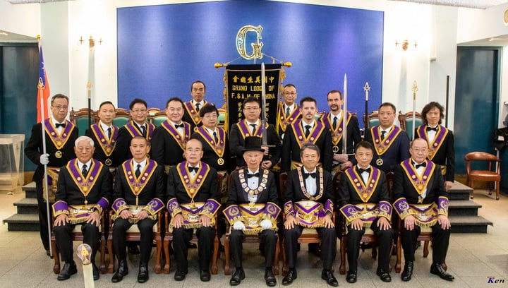 Freemasonry - Grand officers of the M.W. Grand Lodge of Free and Accepted Masons of China, 2020 to 2021 - Photo