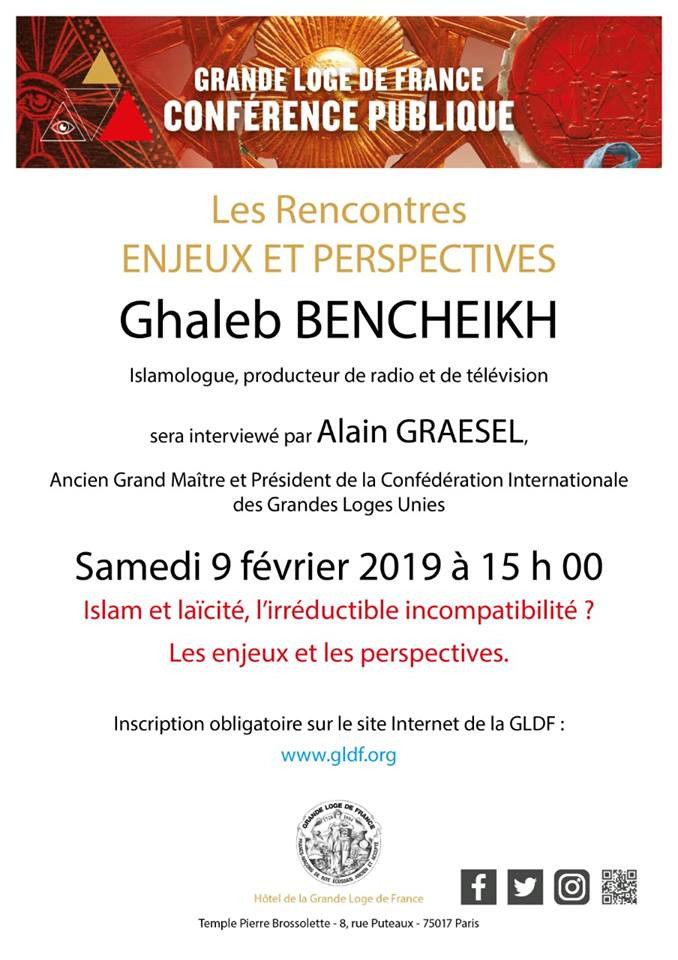 «Rencontres Enjeux et Perspectives», M. Ghaleb Bencheikh   09.20.2018