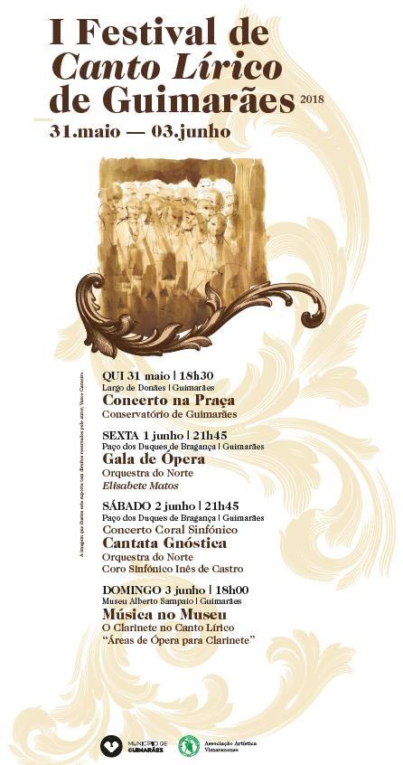 Sociedade: I Festival de Canto Lírico de Guimarães em 2018 | Programa